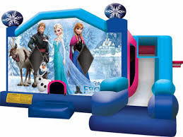 Disney Frozen jump and slide bounce house