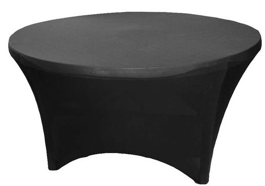 60 inch round spandex cover - black