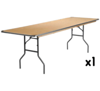6 Foot Rectangular Table