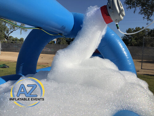 Foam Machine Added to Inflatable Slide