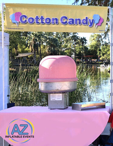 Full Service Cotton Candy Booth