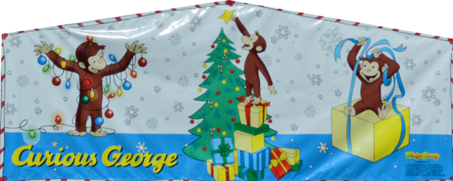 Curious George Merry Christmas Banner