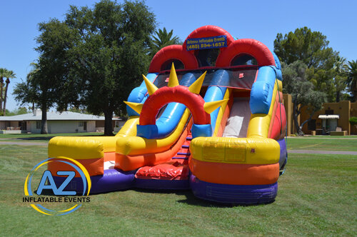Double Down Dry Slide 16ft Tall