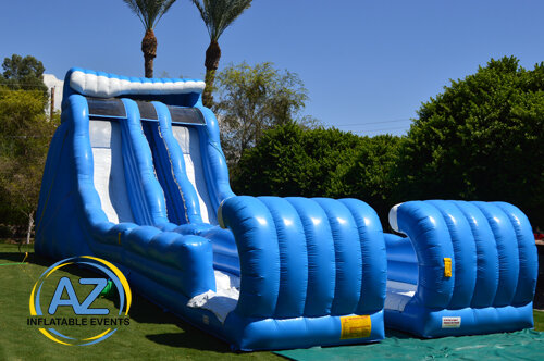 Double Pipeline Water Slide 27ft Tall