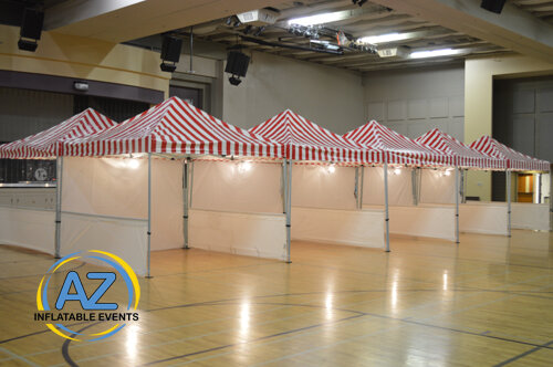 Carnival Tent Red White 10x10 with walls