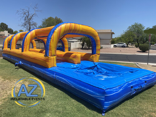 Slip N Slide with Pool