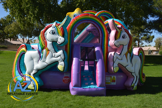 Unicorn Bounce House with Slide