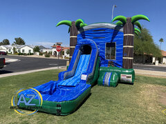 Blue Crush Slide Bounce House Combo