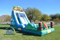 Tiki Falls Water Slide 18ft Tall