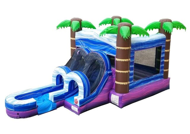 Purple Tropical Combo Water Slide
