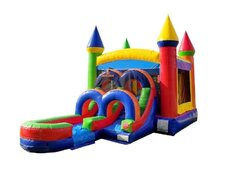 Rainbow Castle Combo Dry Slide