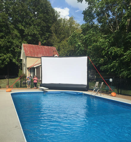 220 Inch Inflatable Movie Screen with A.V. package