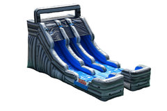 "<span style=""color:#0000ff;""><strong>16ft Dual Lane Water Slide</strong></span>"