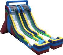 "<span style=""color:#0000ff;""><strong>22ft 2 Lane Water Slide</strong></span>"