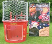"<span style=""color:#0000ff;""><strong>Patriotic Dunk Tank With Window</strong></span><br /> <br />"
