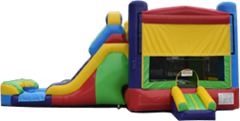 Retro Bounce House/Slide Combo