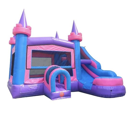 Pink Castle Bounce House/Water Slide Combo