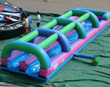 35' Double Lane Slip-n-Slide w/ Pool