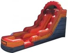 Kid's Fire Red Waterslide