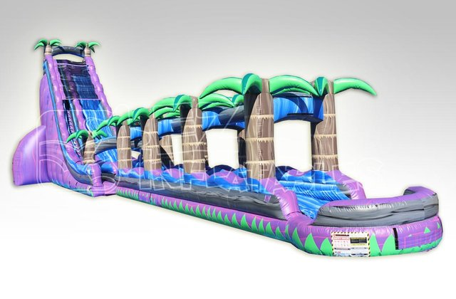 43ft Purple Crush Water Slide and Slip and Dip