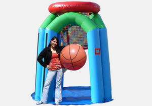 Giant Basketball w/ inflatable Hoop Game