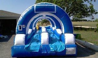 Double Slip and Slide with pool