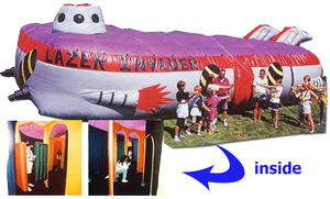Laser Tag Game w/ 6 taggers (larger inflatable)
