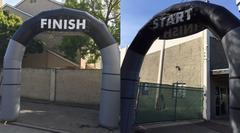 15Ft Arch  Start/Finish