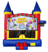 Happy Birthday (blue pan)Castle Mod w/ Hoop