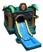 Lion Jump w/ Slide and BB Hoop with Water Tub