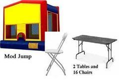Mod Fun Pack 6   2 Tables and 16 Chairs
