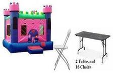 Pink Castle Fun Pack 6 w/ 2 Tables and 16 Chairs