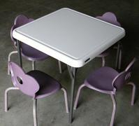Kids Table w/ 4 Purple Chairs