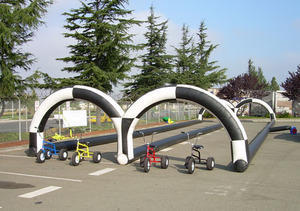 Drag Race Course with Tricycles