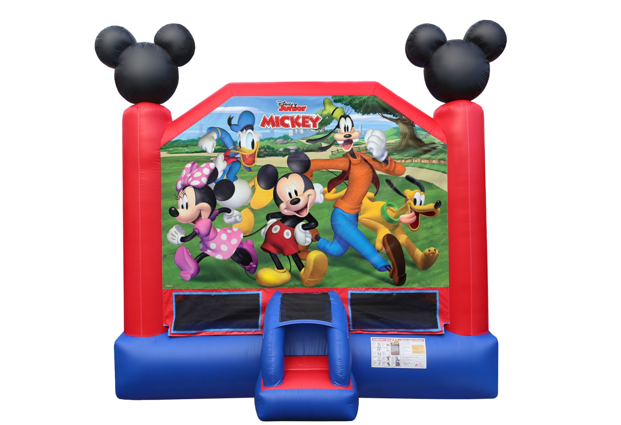 Mickey Mouse, Minnie Mouse bounce house