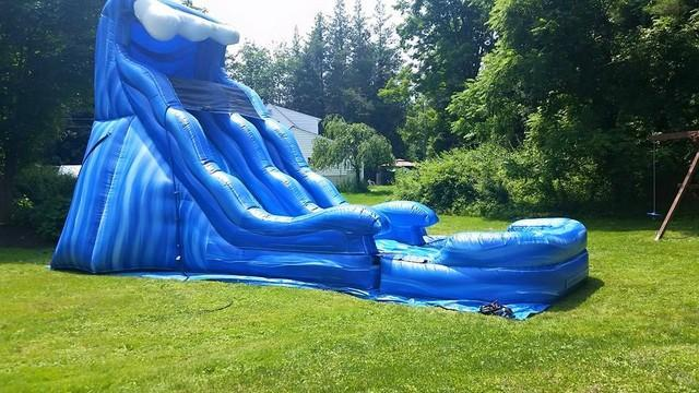 40ft Obstacle Course and Wave Water Slide