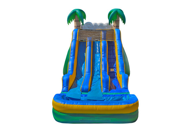 17ft Tropical Wave Waterslide Dual Lane