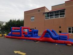 <b><font color=black><b>55ft Obstacle Course and Bounce House</font><br>