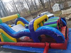 40ft Obstacle Course and Wave Slide