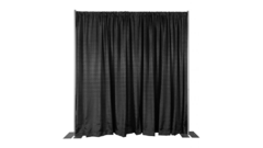 PIPE AND DRAPE 8FT (H) X 10FT (W) SECTION, Black