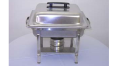 CHAFER 4 QT SQUARE STAINLESS