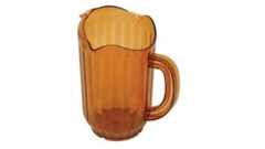 TAN PLASTIC PITCHER, 60OZ.