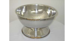 PUNCH BOWL, STAINLESS STEEL/GOLD