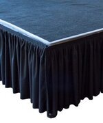 STAGE SKIRTING, BLACK 21 FT X 29""