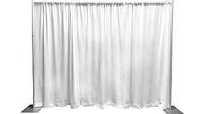 PIPE AND DRAPE 8FT (H) X 10FT (W) SECTION, White