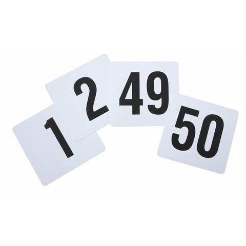 TABLE NUMBER CARDS WITH STANDS