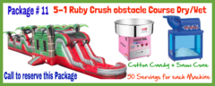 5-1 / 63 Ft Ruby Crush Obstacle Course  Wet 63x14 Package