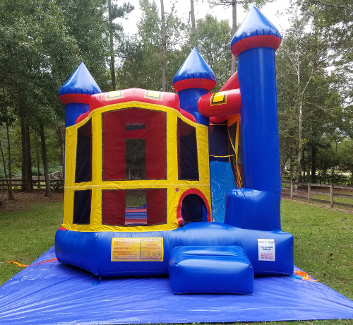 Backyard Combo Bouncer & Slide Exterior