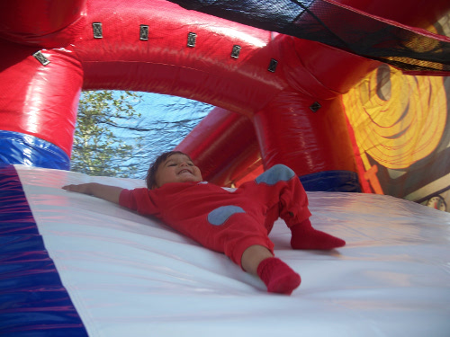 Fire Truck Inflatable Combo Bouncer Slide
