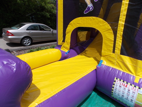 LSU Sports 4in1 Combo Bounce House Slide